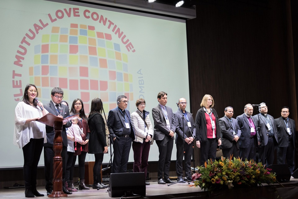 "The Global Christian Forum gathers in Bogotá on 24-27 April 2018 under the theme of ""Let mutual love continue"". Photo: Albin Hillert/WCC"