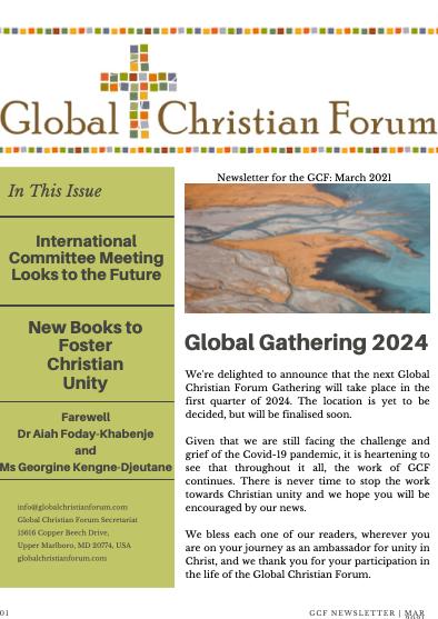 GCF Newsletter: March 2021